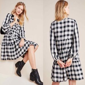 Anthropologie Maeve • Amber Plaid Tiered Tunic